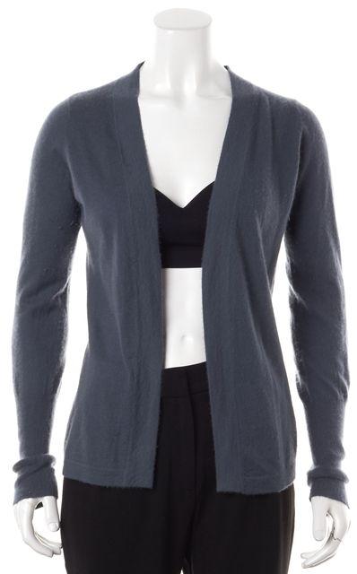 ROZAE NICHOLS Dark Teal Blue Long Sleeve Open Cardigan