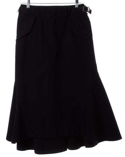 SACAI Black A-Line Trumpet Skirt