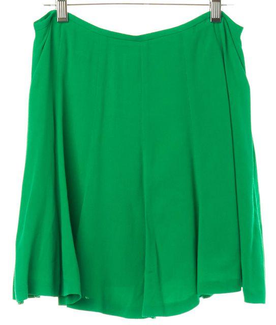 SANDRO Green Flare Mini Skirt