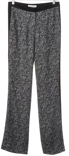 SANDRO Black White Abstract Print Tuxedo Stripe Casual Pants