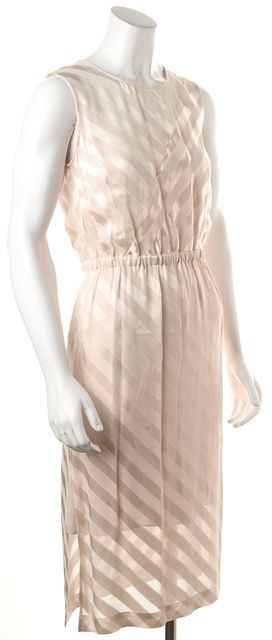 SANDRO Blush Pink Striped Pencil Dress
