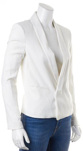 SANDRO Pure White Open Casual Blazer