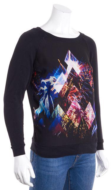 SANDRO Black Multi Graphic Printed Long Sleeve Sweatshirt
