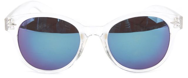SANDRO Clear Cat Eye Mirrored Round Sunglasses