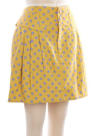 SEE BY CHLOÉ Yellow Polka Dot A-Line Skirt