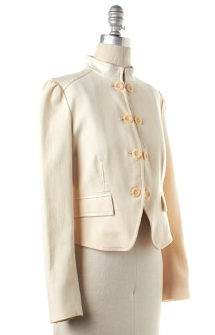 SEE BY CHLOÉ Ivory Double Breasted Button Down Wool Basic Jacket
