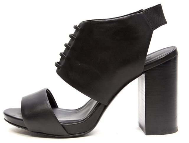 SEE BY CHLOÉ SEE BY CHLOÉ Black Leather Carnaby Block Heel Sandals