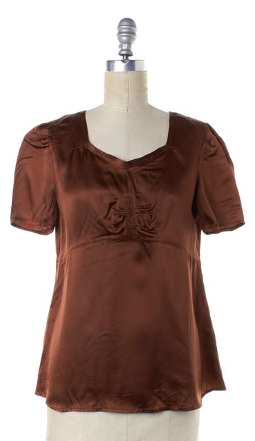 SEE BY CHLOÉ Bronze Scoop Neck Silk Top