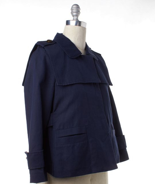 SEE BY CHLOÉ Navy Blue Button Down Jacket
