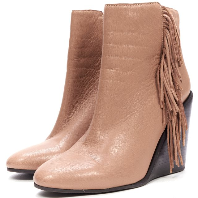 SEE BY CHLOÉ Brown Leather Ankle Boots