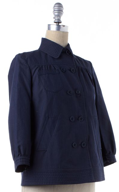 SEE BY CHLOÉ Blue Double Breasted Button Down Blouson Jacket