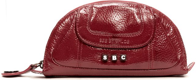 SEE BY CHLOÉ SEE BY CHLOÉ Red Patent Leather Clutch Wallet