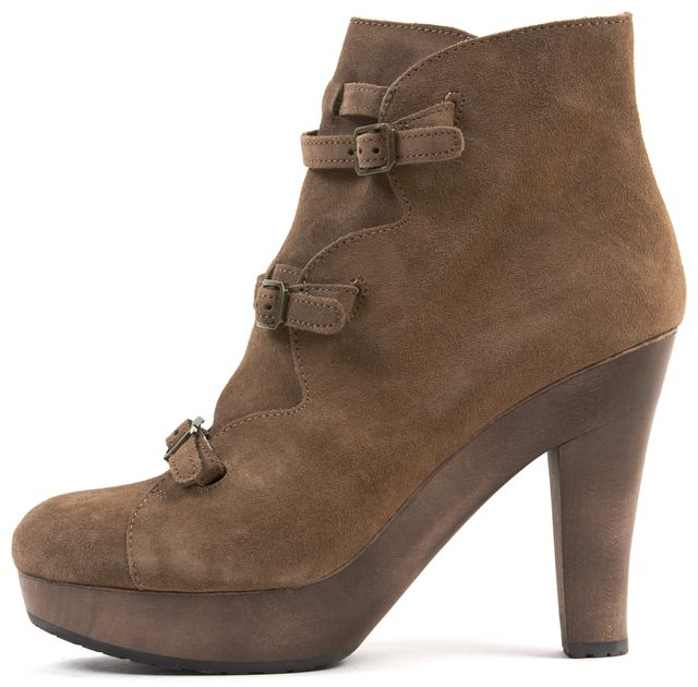 SEE BY CHLOÉ Brown Suede Platform Ankle Boots