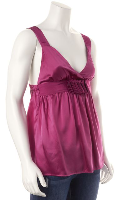SEE BY CHLOÉ Magenta Empire Waist Sleeveless Blouse Top