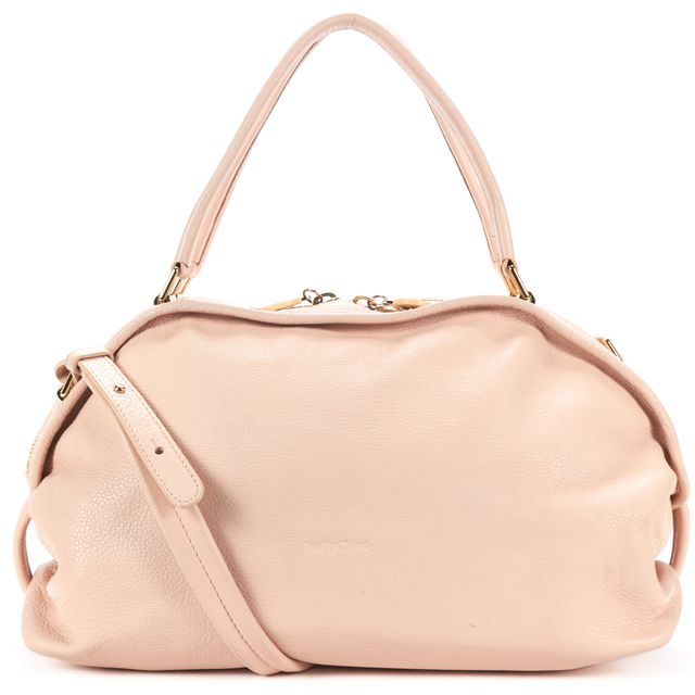 SEE BY CHLOÉ Blush Pebbled Leather Shoulder Bag with Crossbody