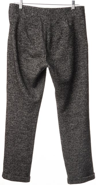 SEE BY CHLOÉ Black White Gray Tweed Cotton Wool Blend Trouser Pants