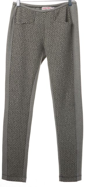 SEE BY CHLOÉ Gray Black Abstract Print Casual Leggings