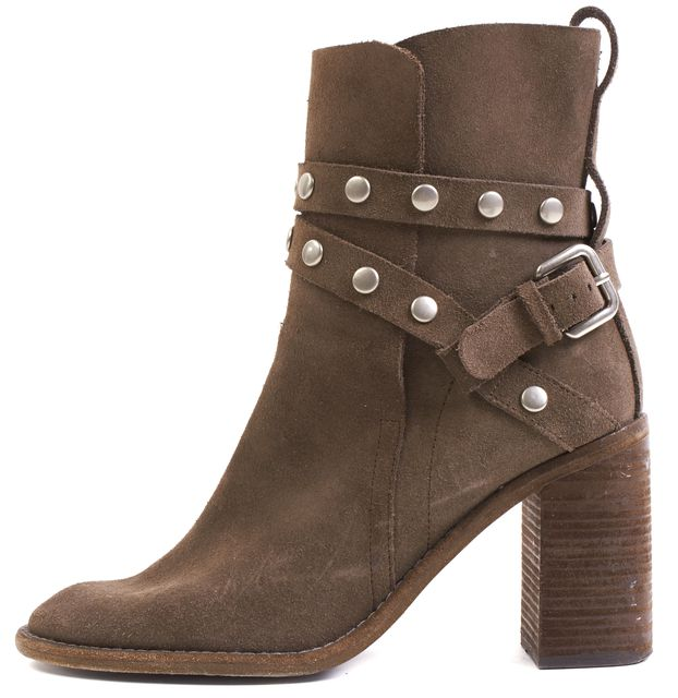SEE BY CHLOÉ SEE BY CHLOÉ Brown Suede Studded Ankle Boots