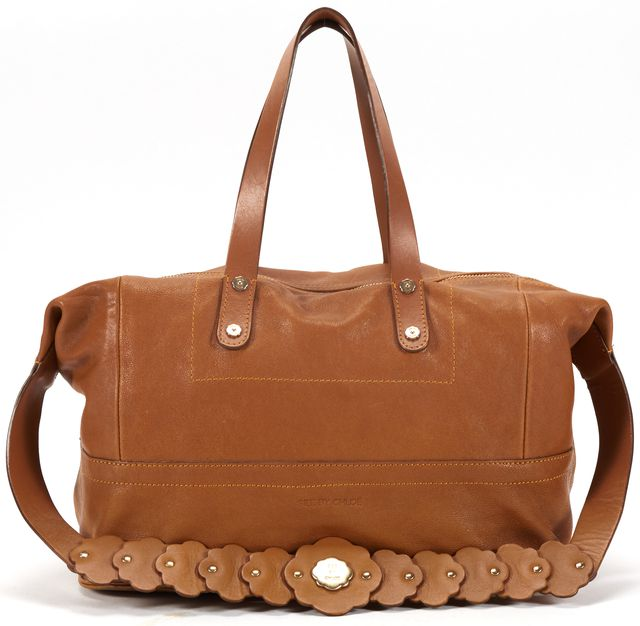 SEE BY CHLOÉ SEE BY CHLOÉ Brown Leather Embellished Strap Shoulder Bag