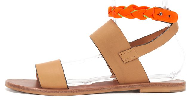 SEE BY CHLOÉ SEE BY CHLOÉ Brown Leather Strap Sandals US 9.5 EU 39.5