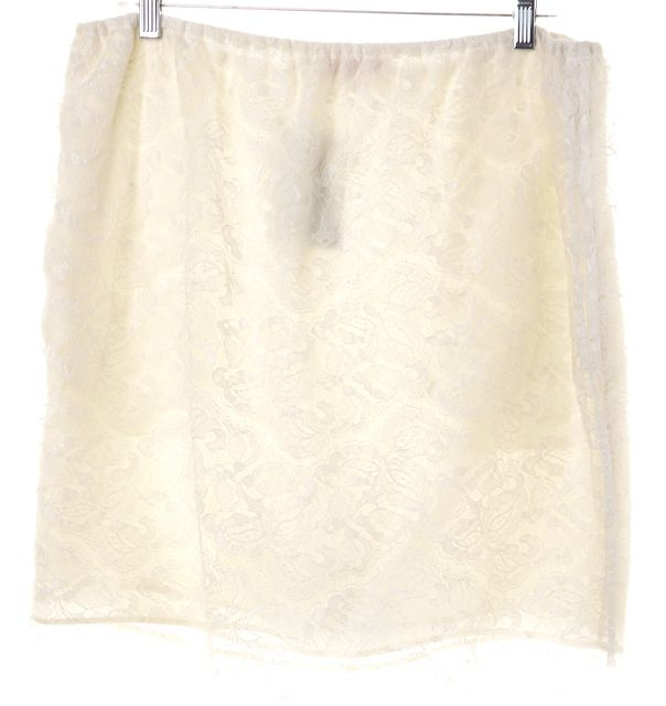 SEE BY CHLOÉ White Lace A-Line Skirt