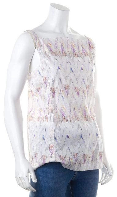 SEE BY CHLOÉ Purple White Abstract Sleeveless Blouse Top