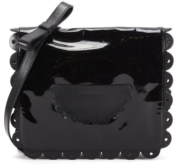 SEE BY CHLOÉ Black Patent Leather Shoulder Bag