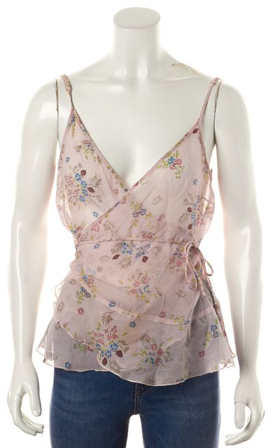 SEE BY CHLOÉ Pink Floral Silk Cami Top