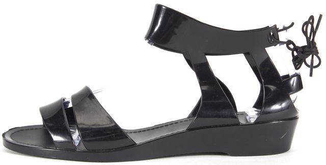 SEE BY CHLOÉ SEE BY CHLOÉ Black Jelly Tie Back Gladiator Sandals