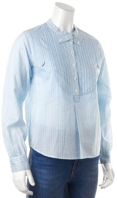SEE BY CHLOÉ Blue White Black Striped Blouse Top