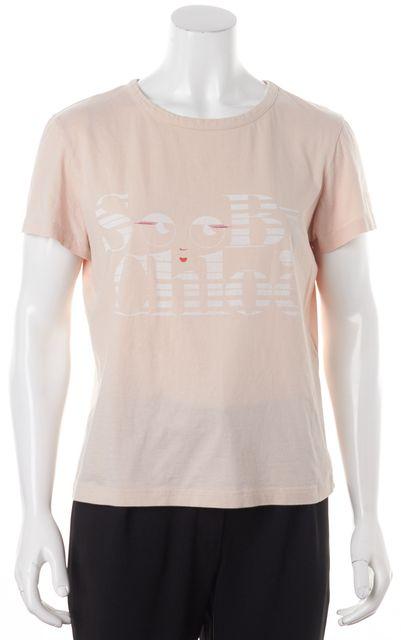 SEE BY CHLOÉ Blush Pink Graphic Print T-Shirt