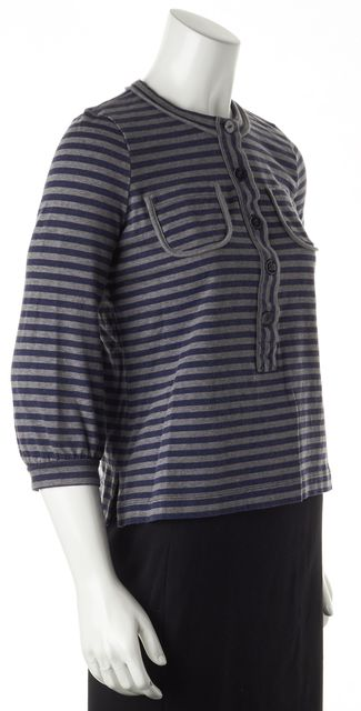 SEE BY CHLOÉ Gray Striped Top US 6 IT 42