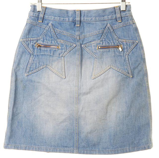 SEE BY CHLOÉ Blue Light Wash Denim A-Line Skirt
