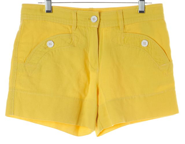 SEE BY CHLOÉ Yellow Cotton Linen Casual Shorts