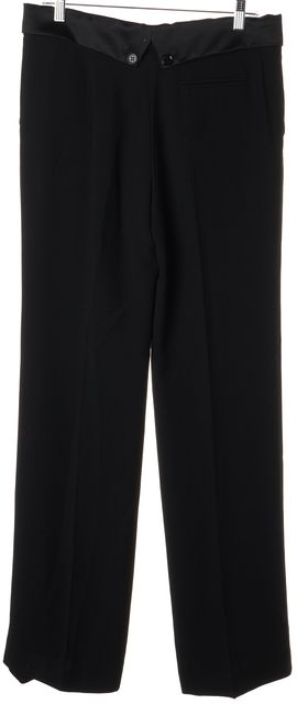 SEE BY CHLOÉ Black Acetate Buttoned Waist Dress Pants