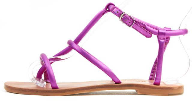 SEE BY CHLOÉ Purple Leather Flat Sandals