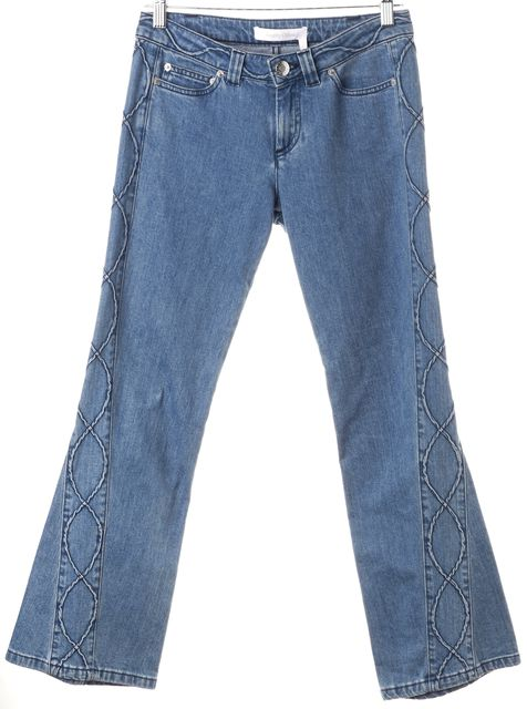 SEE BY CHLOÉ Blue Stretch Cotton Medium Wash Flare Jeans