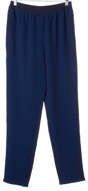 SEE BY CHLOÉ Blue Elastic Waist Embroidered Polyester Casual Pants