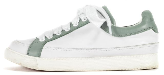 SEE BY CHLOÉ White Sage Green Leather Sam Sneakers