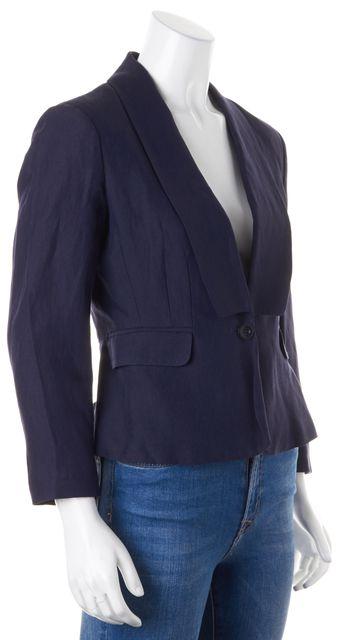 SEE BY CHLOÉ Navy Blue Wool Single Button Blazer