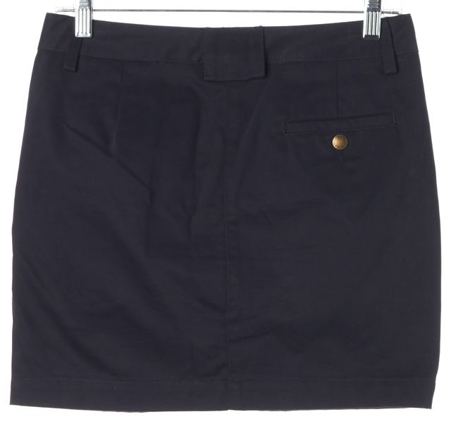 SEE BY CHLOÉ Navy Blue Black Color Block Button Front Mini Skirt