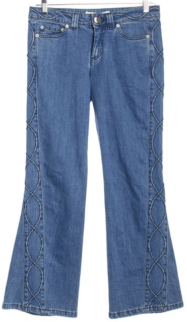 SEE BY CHLOÉ Blue Stoned Indigo Side Detail Boot Cut Jeans