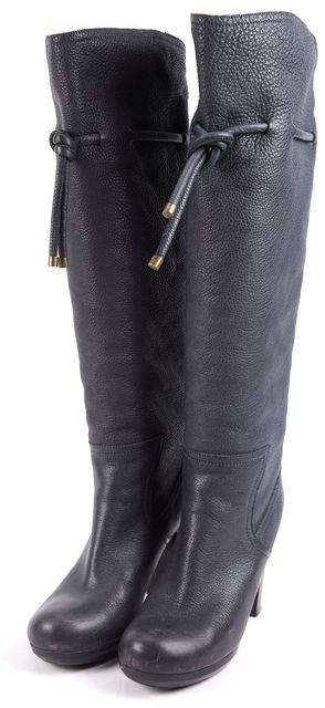 SEE BY CHLOÉ Blue Leather Knee-high Boot Boots US 8