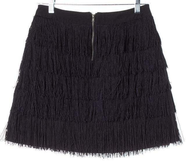 SEE BY CHLOÉ Black Fringe Mini Skirt