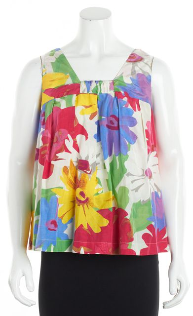 SEE BY CHLOÉ Multi-color Floral Sleeveless Silk Blouse