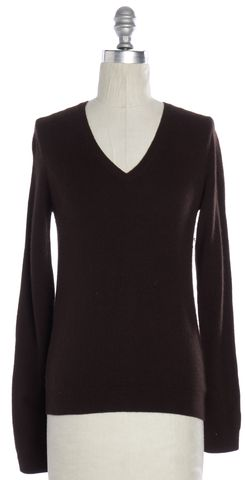 SAKS FIFTH AVENUE Burgundy Cashmere V-Neck Sweater Size XS