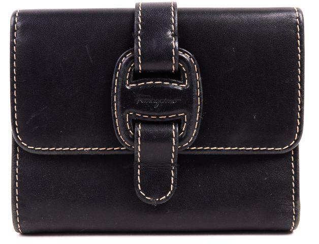 SALVATORE FERRAGAMO Authentic Black Leather Wallet