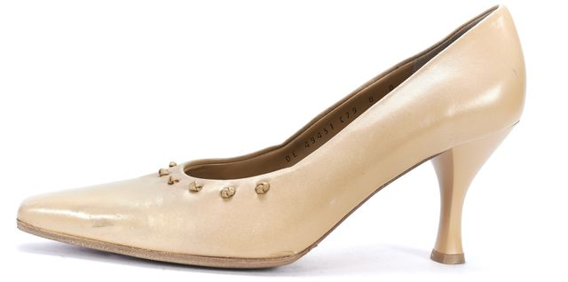 SALVATORE FERRAGAMO Beige Leather Heel
