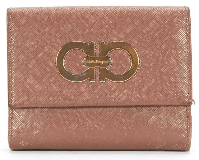 SALVATORE FERRAGAMO Light Brown Metallic Hue Wallet