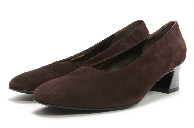 SALVATORE FERRAGAMO Brown Casual Suede Pump Classic Career Loafers